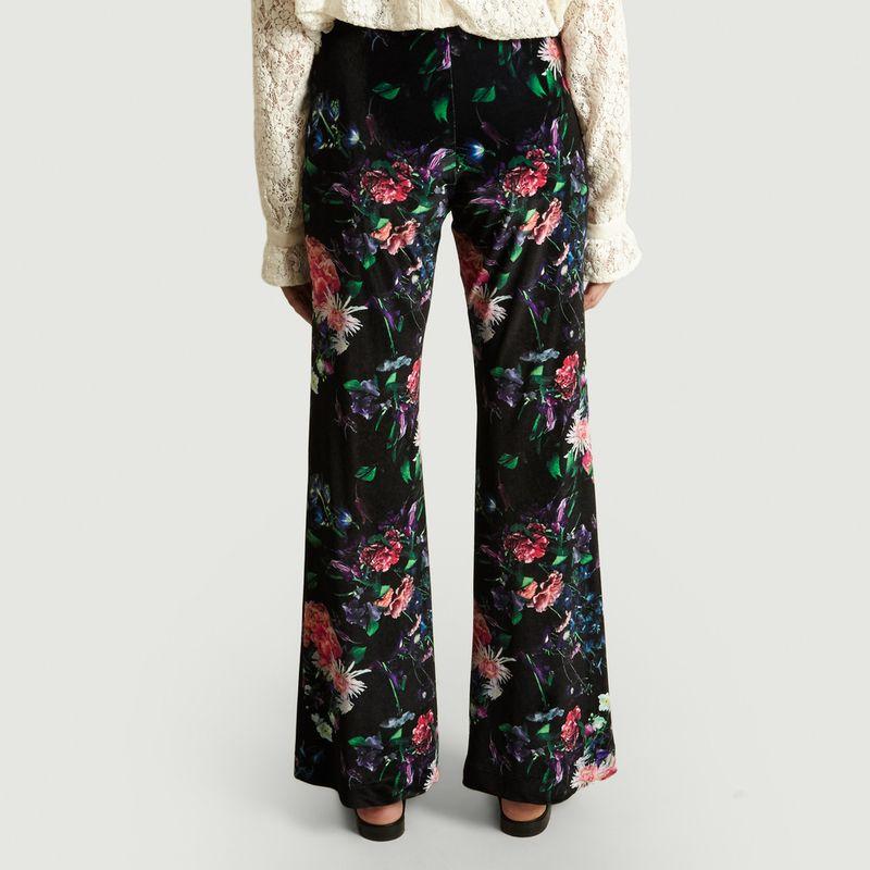Pantalon Fleuri En Velours Moody - Fête Impériale