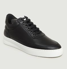 Sneakers Low Top Lane Nappa Cuir Lisse