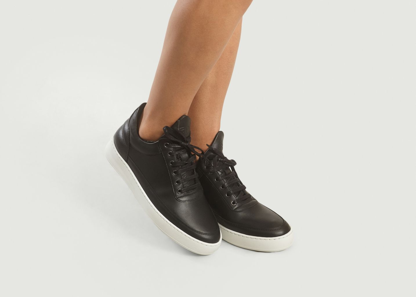 Cuir Lisse Top Noir Lane Filling PiecesL'exception Nappa Low Sneakers LpSGUVMzq