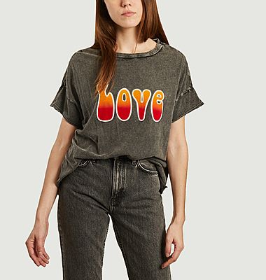 T-shirt Love tie & dye