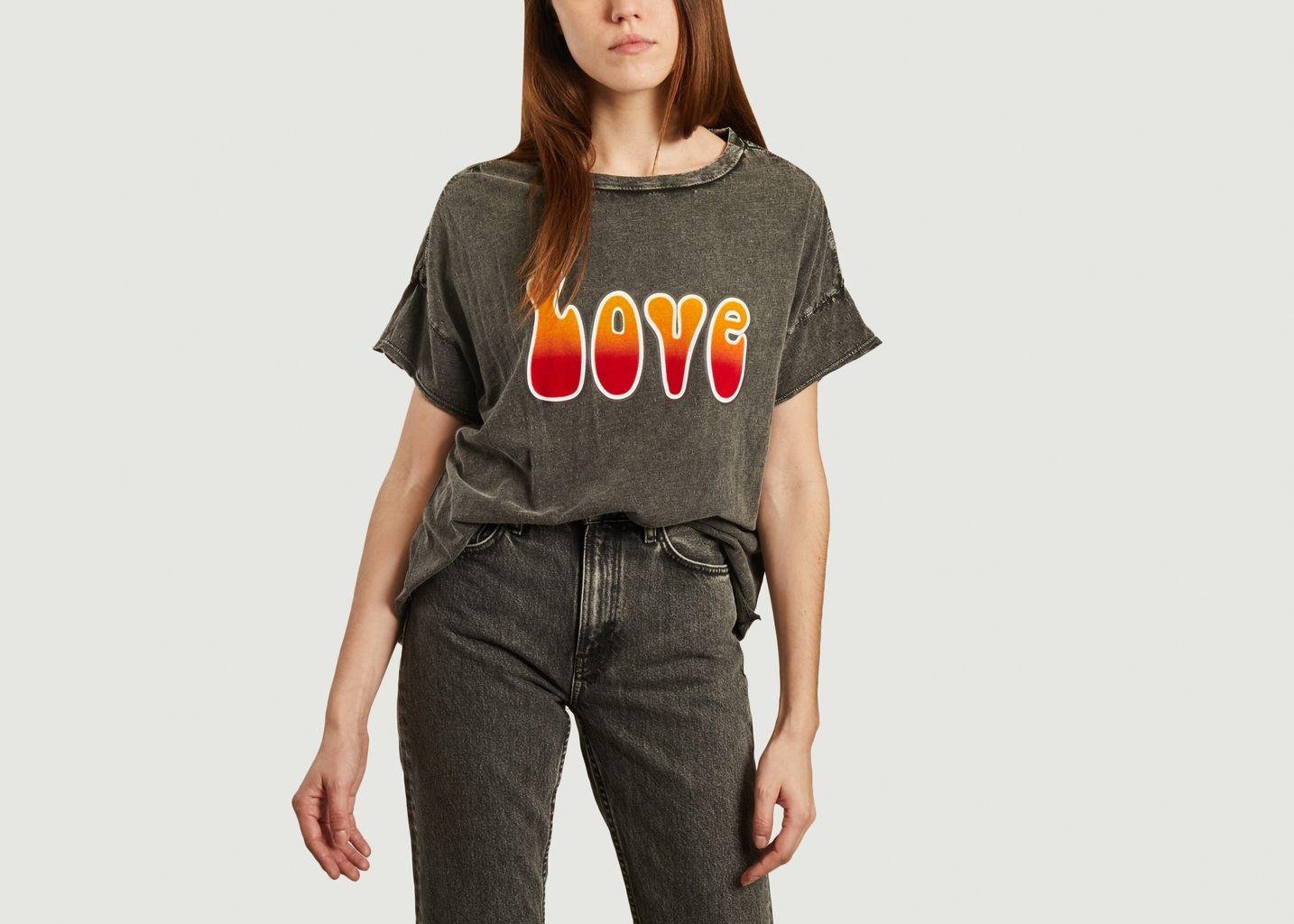 T-shirt Love tie & dye - Five