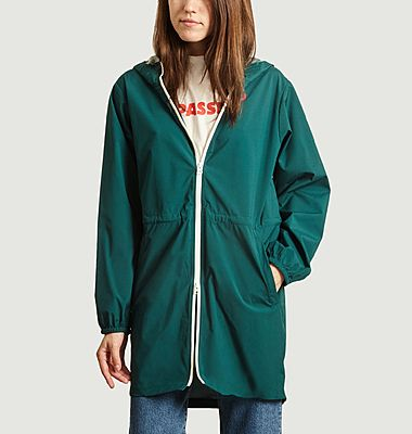 Amelot recycled canvas long raincoat