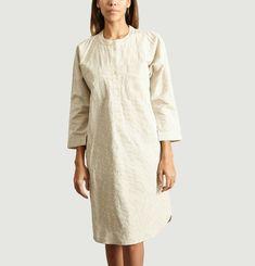 Collarless Shirt Dress