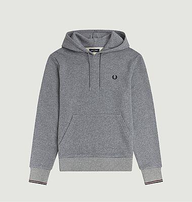 Sweatshirt à capuche avce boutonière