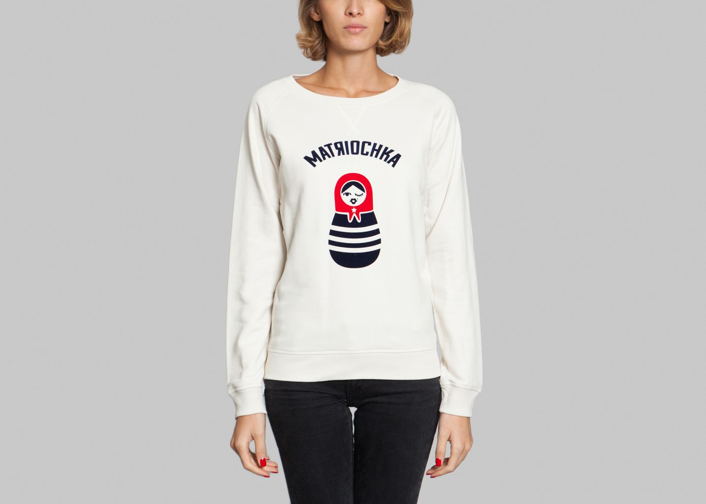 Matriochka Sweatshirt Cream French Disorder   L Exception bbe8cf3e3d0