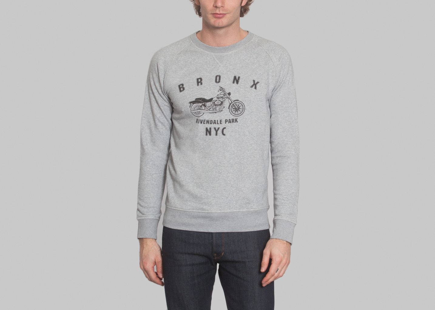 Sweat Bronx French Disorder Gris L'Exception
