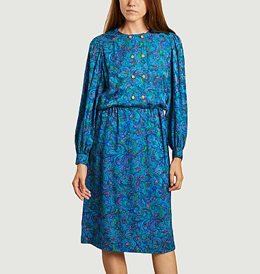 Robe vintage en soie
