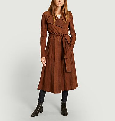 Trench Yves Saint Laurent en daim