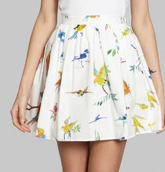 Flying Birds Skirt