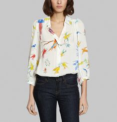 Blouse Flying Birds