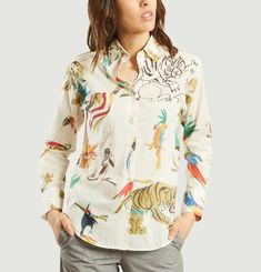 Chemise Parrot On Gold