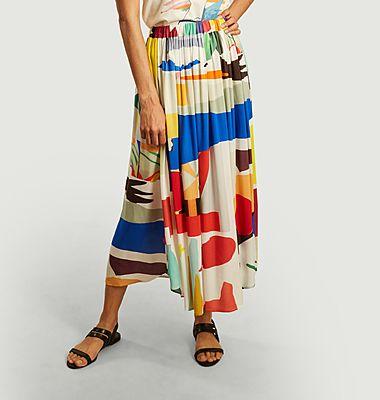 Abstract long skirt