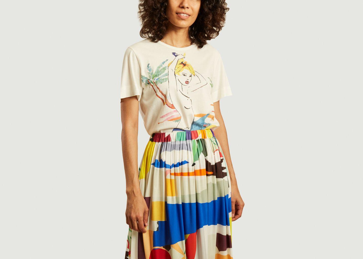 T-shirt Cindy Palm en coton - G.Kero