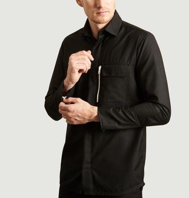 Chemise à Zip Blanc