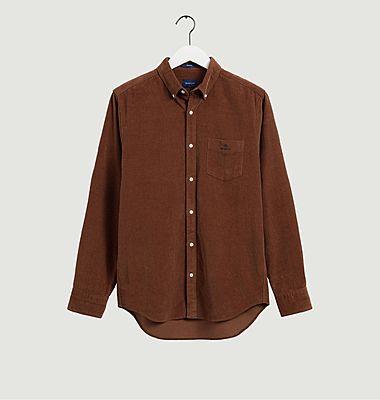 Chemise coupe droite en velours côtelé