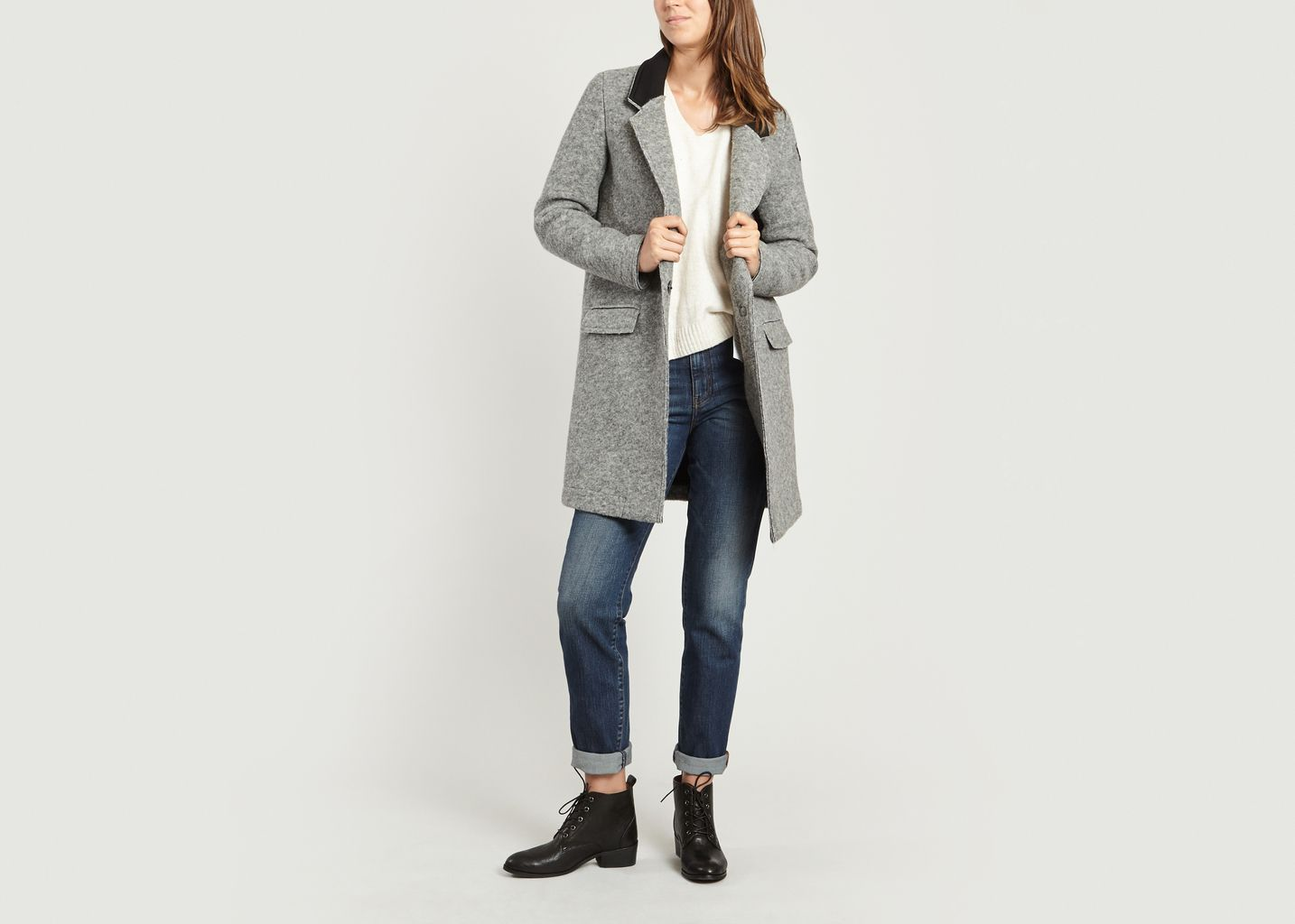 Manteau Gris Ebba Gertrude L'exception Gaston qnPwrSfq6