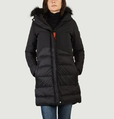 Jade Panelled Puffer Jacket