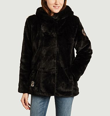 Fortuna hooded faux-fur jacket