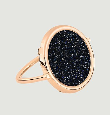 Ajna Disc rose gold ring