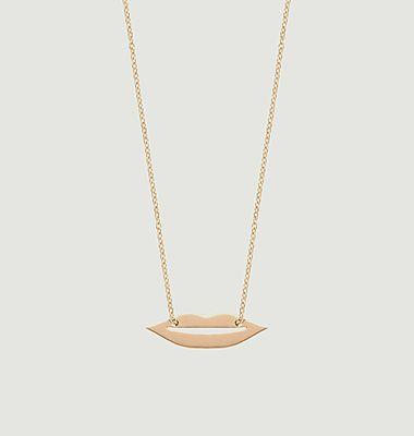Collier chaîne et pendentif en or rose Mini French Kiss