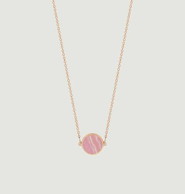 Collier Mini Ever Disc rhodocrosite