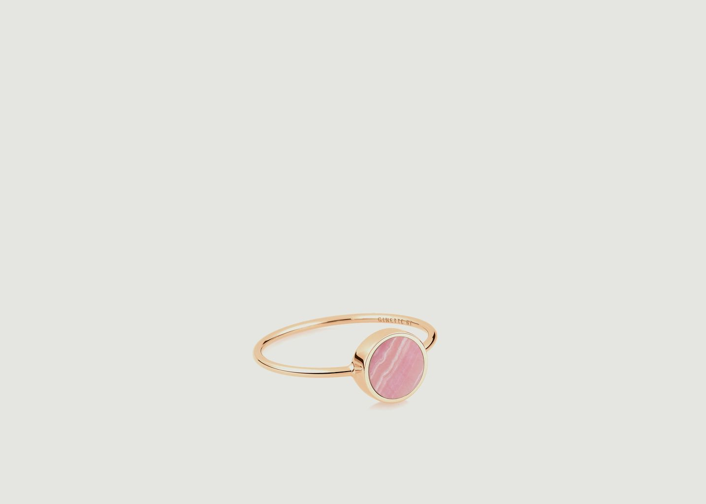 Bague Mini Ever disc rhodocrosite - Ginette NY