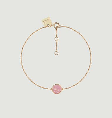Bracelet mini Ever disc rhodocrosite