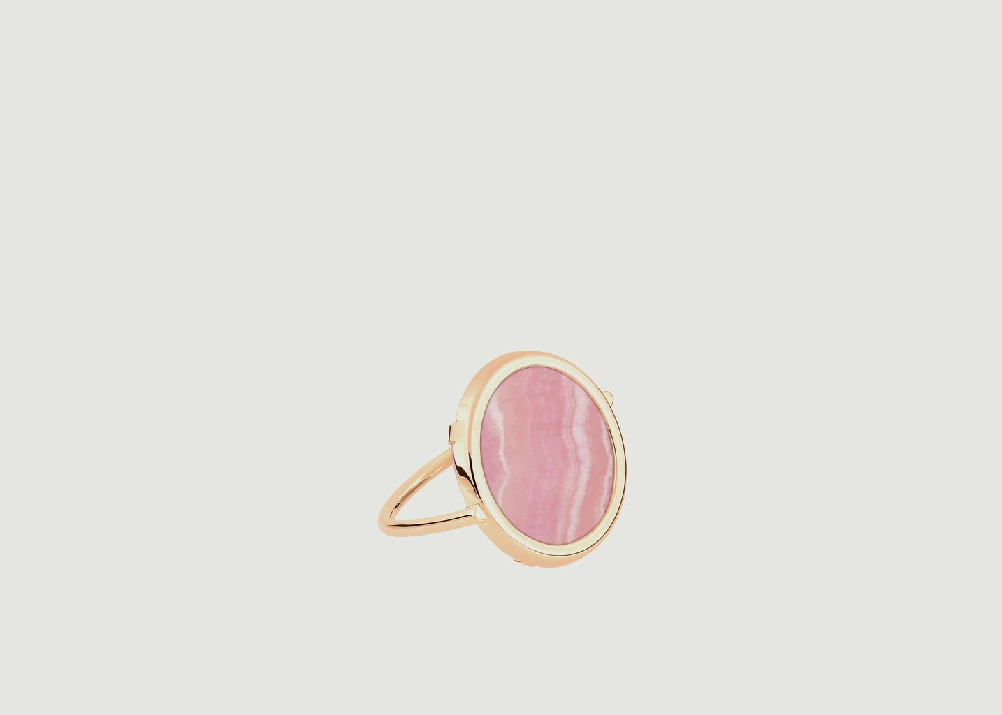 Bague Disc Rhodochrosite - Ginette NY