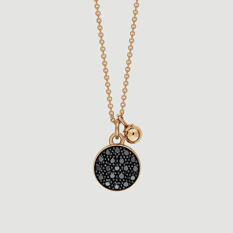 Collier Mini Ever Diam Black - Ginette NY