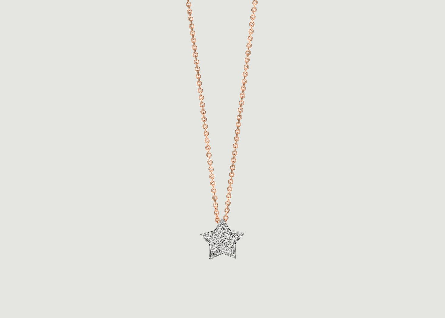 Collier Tiny Diamond Star - Ginette NY