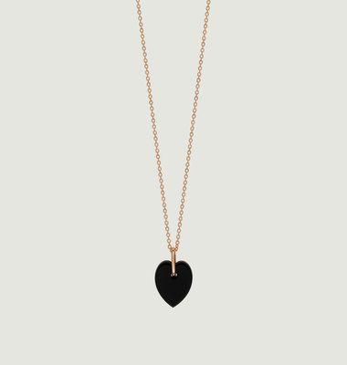 Collier Mini Coeur Angèle Onyx