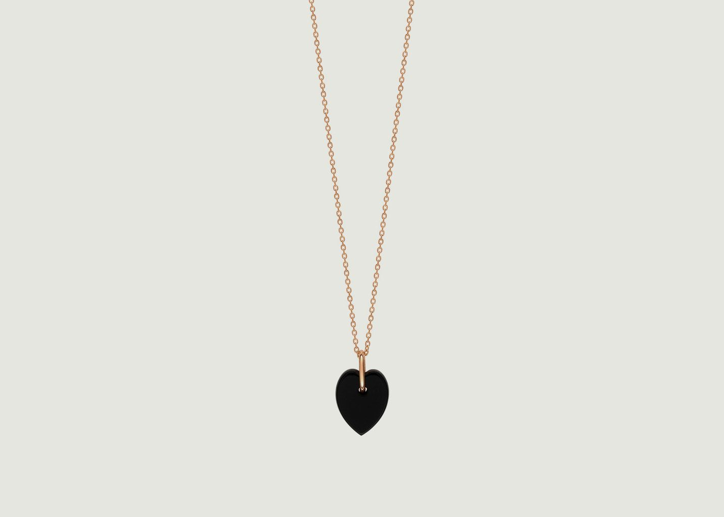 Collier Mini Coeur Angèle Onyx - Ginette NY