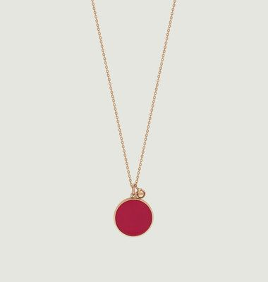 Collier Maria Coral Disc on Chain