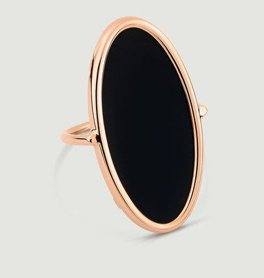 Bague Ellipse Onyx