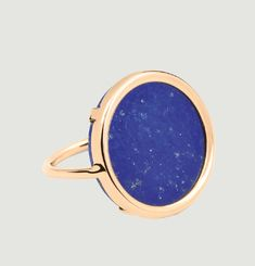 Lapis Disc Ring
