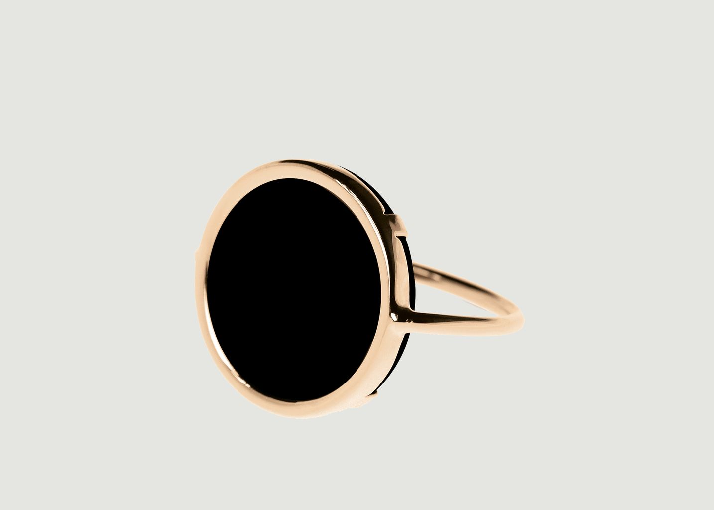 Bague Disc Onyx - Ginette NY