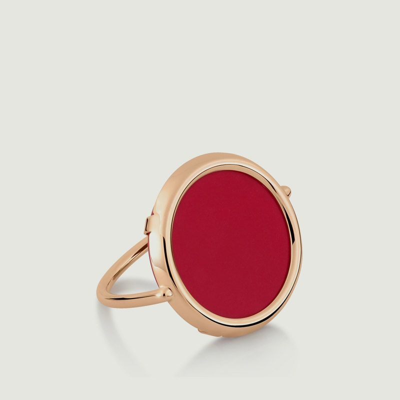 Bague Maria Coral Disc - Ginette NY
