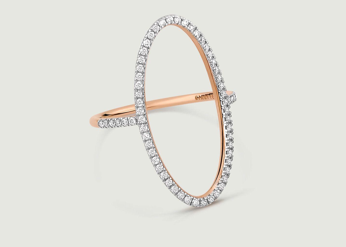 Bague Ellipse Diamant - Ginette NY