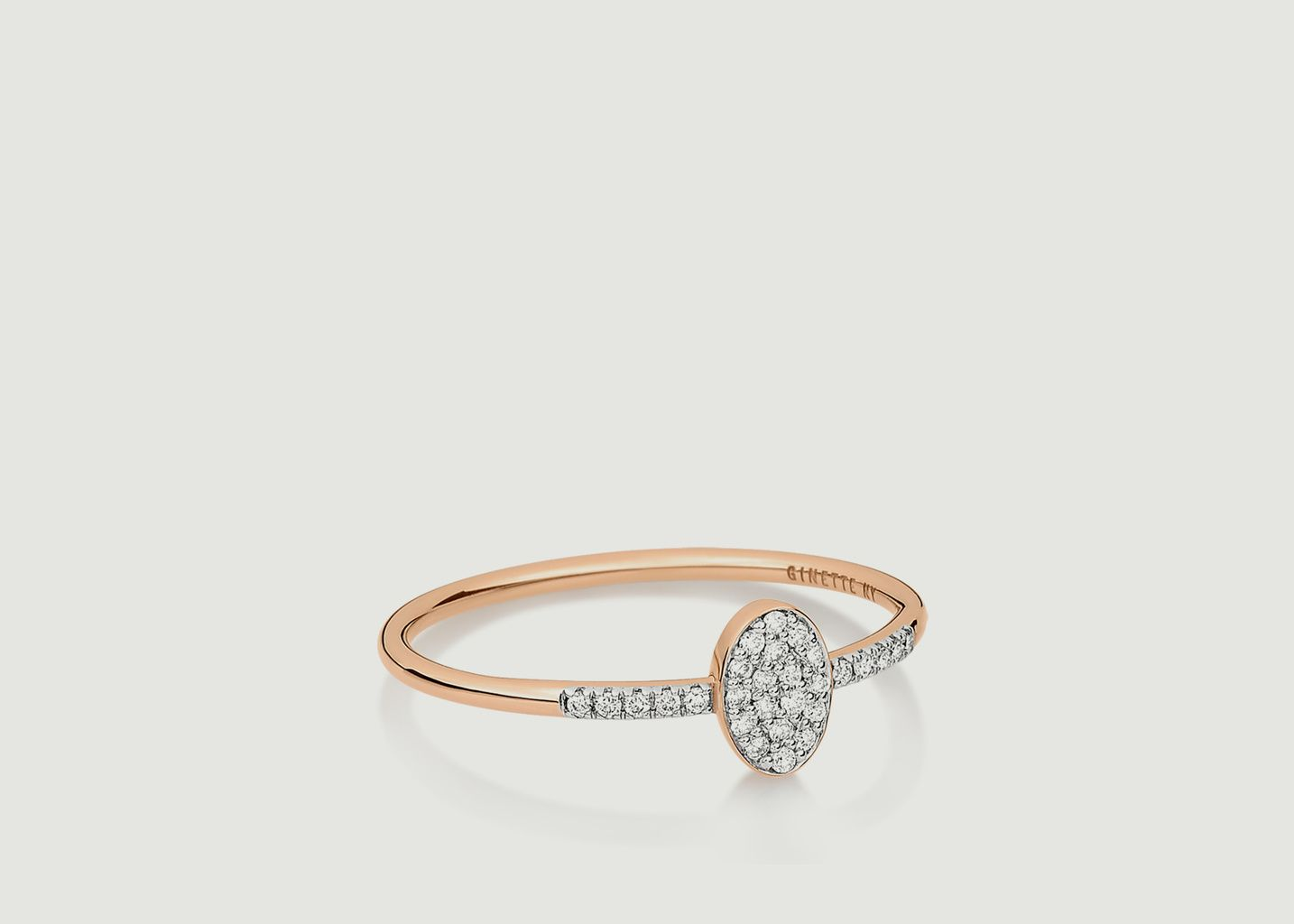 Bague Sequin Diamant - Ginette NY