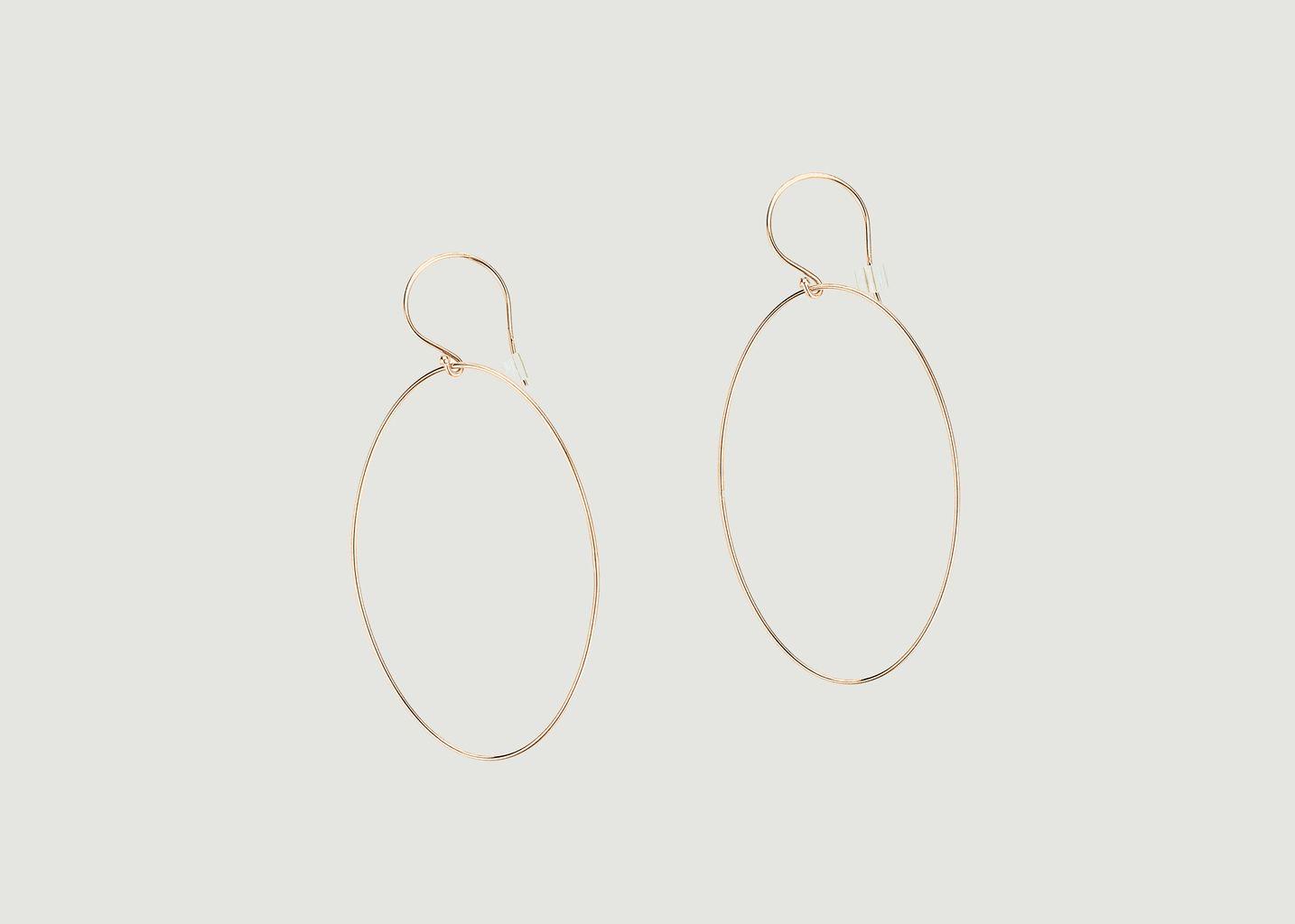 Boucles d'Oreilles Ellipse - Ginette NY