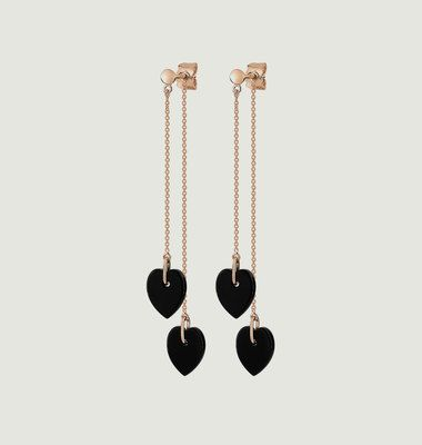 Double Angèle Mini Onyx Heart