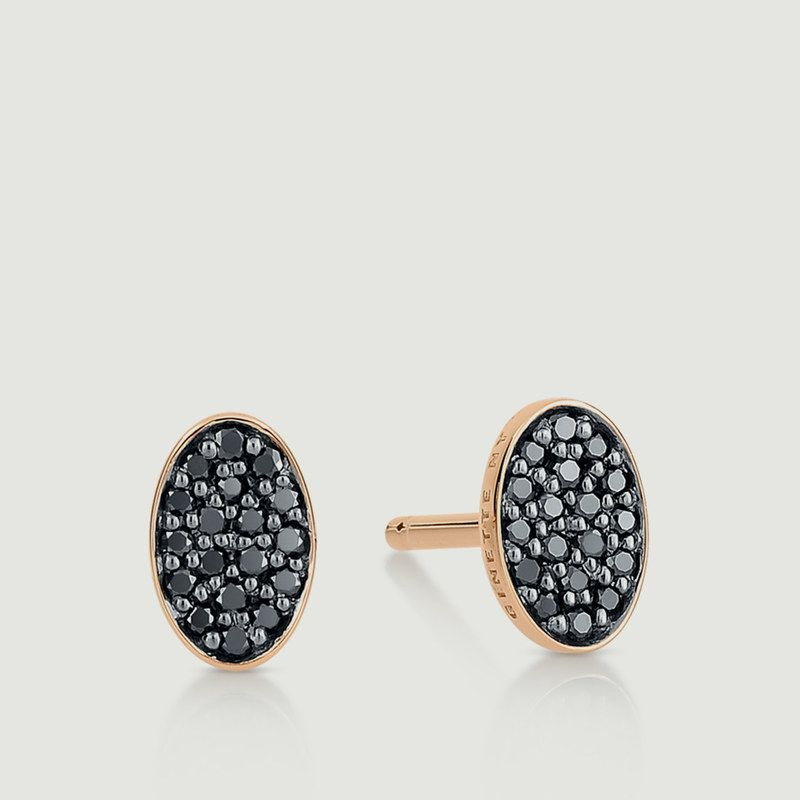 Puces Sequin Diamants Noirs - Ginette NY