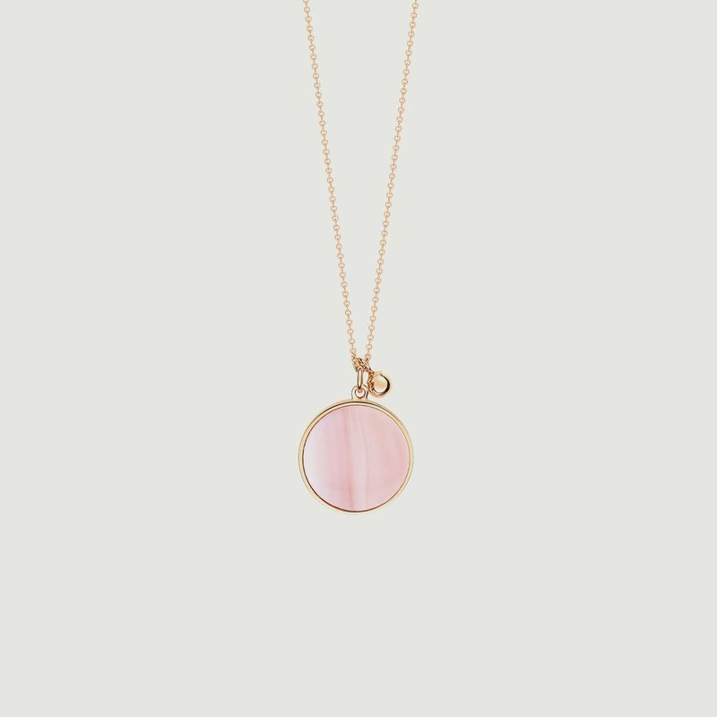 Collier Ever Disc nacre - Ginette NY