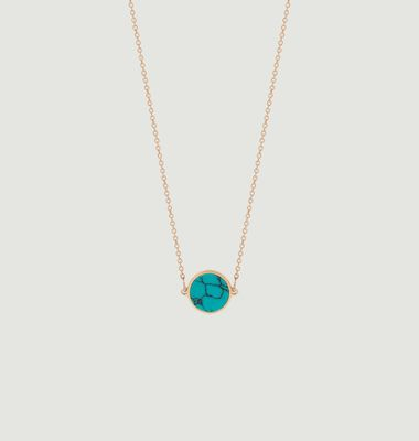 Collier Mini Ever Disc turquoise