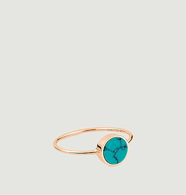 Bague Ever Disc turquoise