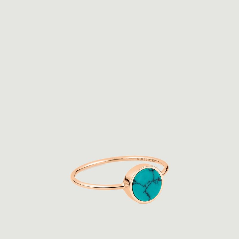 Bague Ever Disc turquoise - Ginette NY