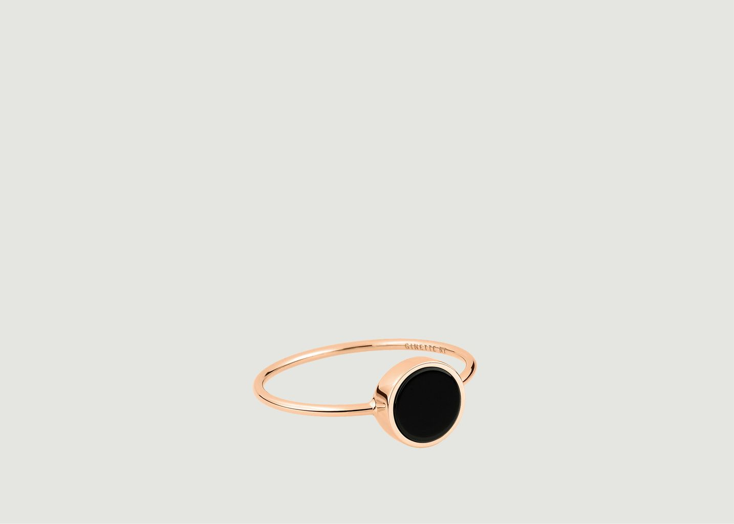 Bague Ever Disc onyx - Ginette NY