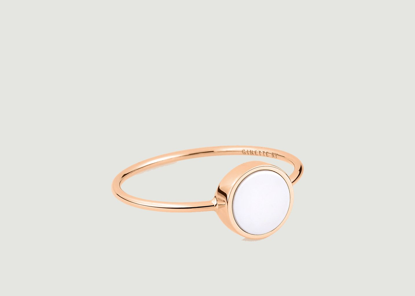 Bague Ever Disc agathe - Ginette NY