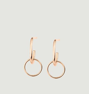 Boucles d'oreilles Tiny Circle Drop