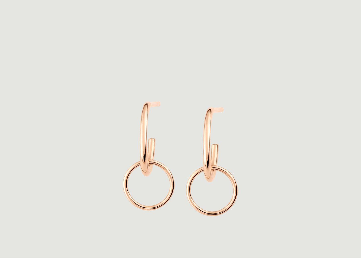 Boucles d'oreilles Tiny Circle Drop - Ginette NY